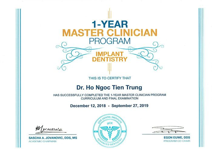 bằng master implant